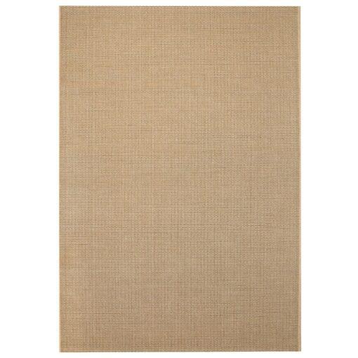 vidaXL tæppe sisallook indendørs/udendørs 80 x 150 cm beige