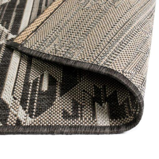 vidaXL tæppe sisallook indendørs/udendørs 140 x 200 cm geometrisk