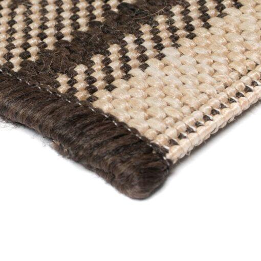 vidaXL tæppe sisallook indendørs/udendørs 120 x 170 cm etnisk design