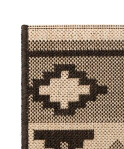 vidaXL tæppe sisallook indendørs/udendørs 160 x 230 cm etnisk design