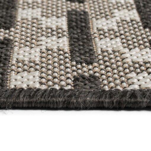 vidaXL tæppe sisallook indendørs/udendørs 120 x 170 cm firkanter