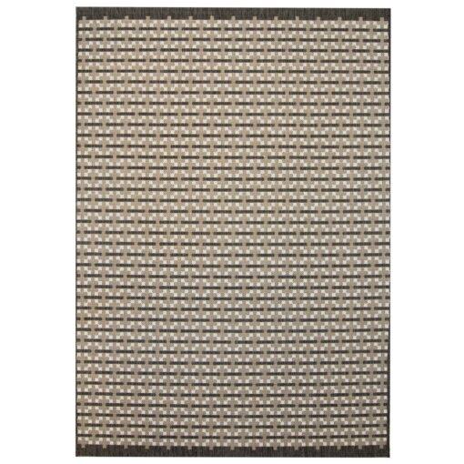 vidaXL tæppe sisallook indendørs/udendørs 140 x 200 cm firkanter