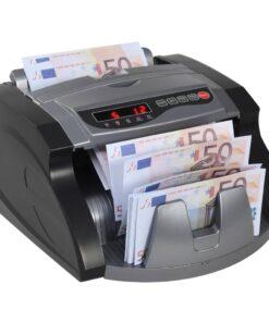 vidaXL pengetæller til pengesedler sort og grå