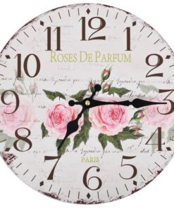 vidaXL vægur vintagestil blomst 30 cm