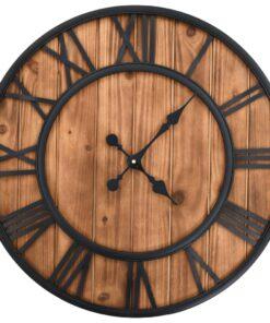 vidaXL vægur i vintagestil med kvarts-urværk træ og metal 60 cm XXL