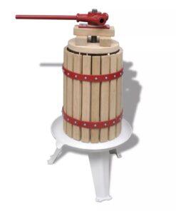 vidaXL frugt- og vinpresser 6 l