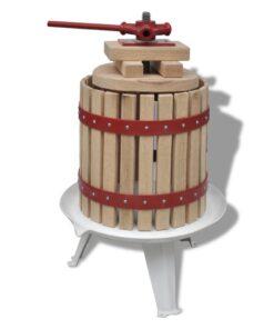 vidaXL frugt- og vinpresser 12 l