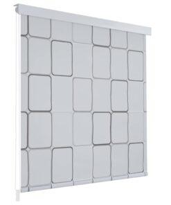 vidaXL rullegardin til brusekabine 140 x 240 cm firkant