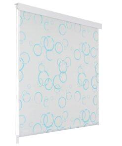 vidaXL rullegardin til brusekabine 80 x 240 cm boble-print