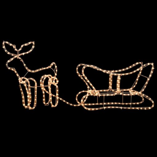 vidaXL julelys-opstilling med rensdyr og slæde 110 x 24 x 47 cm