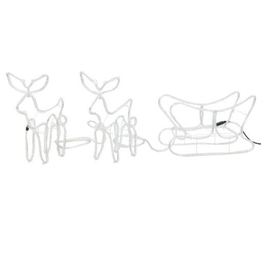 vidaXL julelys-opstilling med 2 rensdyr og slæde 300 x 24 x 47 cm