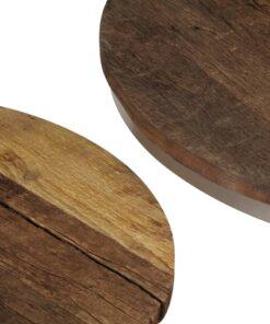 vidaXL sofabordssæt i 2 dele genanvendt træ og stål