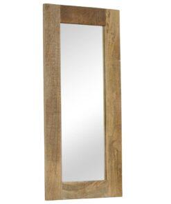 vidaXL spejl massivt mangotræ 50 x 110 cm