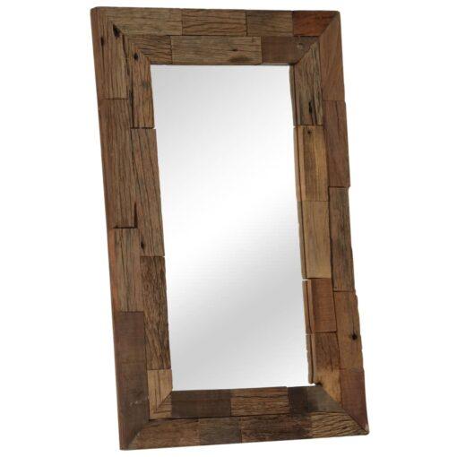 vidaXL spejl 50×80 cm massivt genbrugstræ