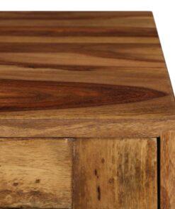 vidaXL sofabord i massivt sheeshamtræ med honningfarvet finish 110 x 50 x 37 cm
