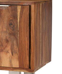 vidaXL tv-skab i massivt sheeshamtræ med honningfarvet finish 118 x 30 x 40 cm