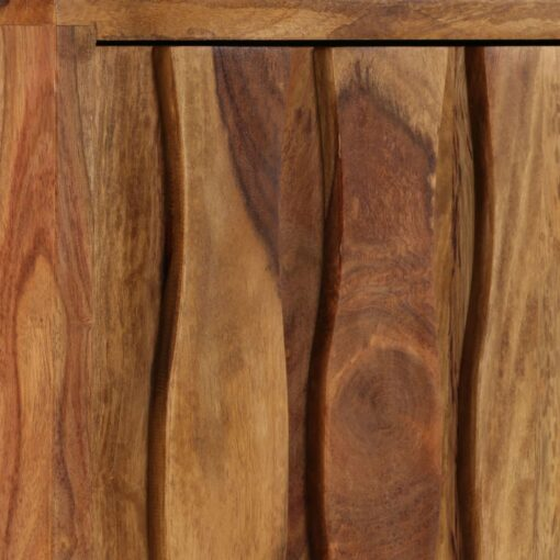 vidaXL tv-skab massivt sheeshamtræ 118 x 30 x 40 cm