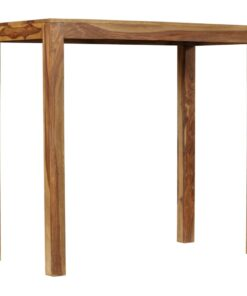 vidaXL barbord i massivt sheeshamtræ 118 x 60 x 107 cm