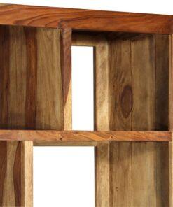 vidaXL boghylde i massivt sheeshamtræ 150 x 35 x 200 cm