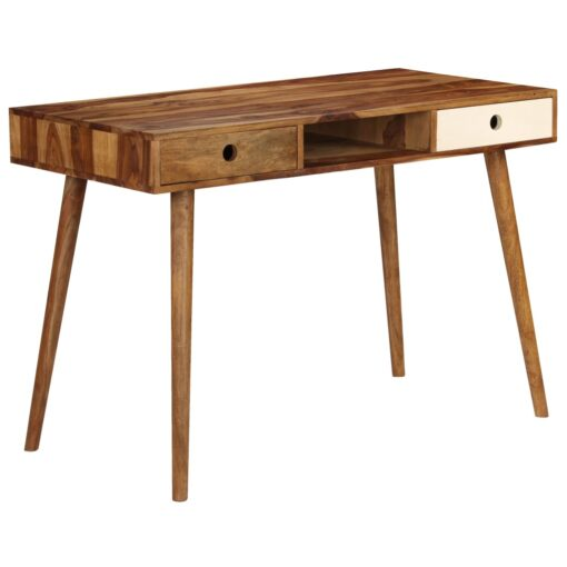 vidaXL skrivebord 110 x 55 x 76 cm massivt sheeshamtræ