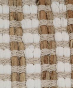 vidaXL bademåttesæt i håndvævet jute stof naturfarvet og hvid