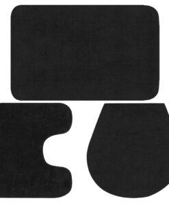 vidaXL bademåttesæt i 3 dele stof antracitgrå