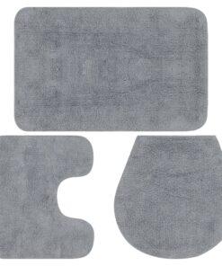 vidaXL bademåttesæt i 3 dele stof grå
