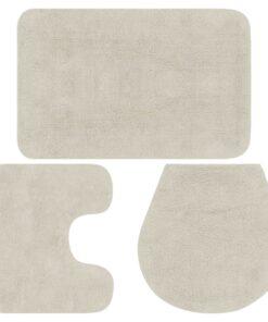 vidaXL bademåttesæt i 3 dele stof hvid