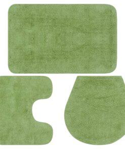 vidaXL bademåttesæt i 3 dele stof grøn