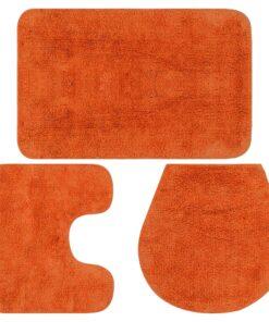 vidaXL bademåttesæt i 3 dele stof orange