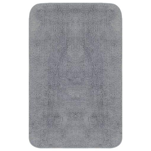 vidaXL bademåttesæt i 2 dele stof grå