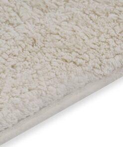 vidaXL bademåttesæt i 2 dele stof hvid