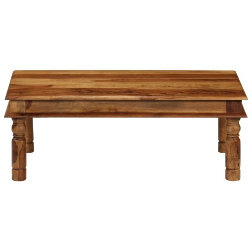 vidaXL sofabord massivt sheeshamtræ 110 x 60 x 40 cm