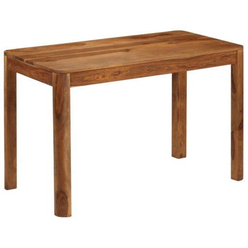 vidaXL spisebord i massivt sheeshamtræ 120 x 60 x 76 cm
