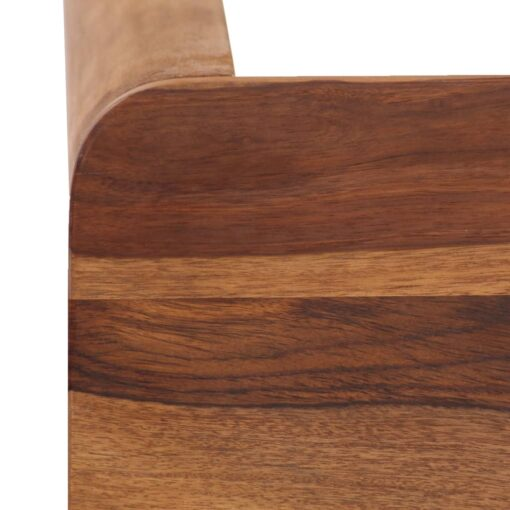 vidaXL barbord i massivt sheeshamtræ 115 x 55 x 107 cm