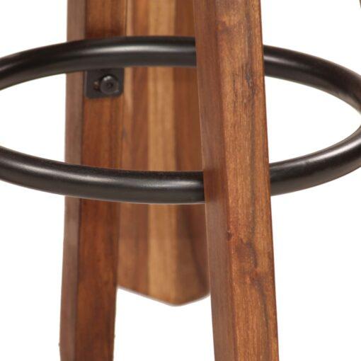 vidaXL barsæt 3 dele massivt sheeshamtræ ægte læder