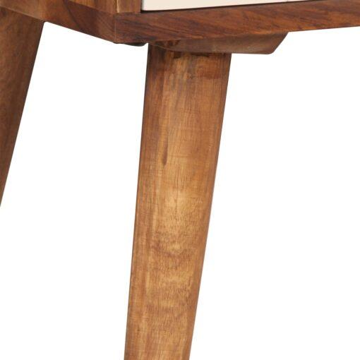 vidaXL sengebord massivt sheeshamtræ 45 x 30 x 45 cm