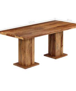 vidaXL spisebord massivt sheeshamtræ 175 x 90 x 77 cm
