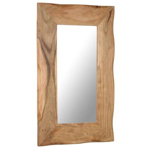 vidaXL kosmetikspejl massivt akacietræ 50 x 80 cm
