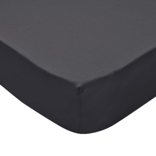 vidaXL faconsyede lagener til vandsenge 2 stk. 1,8 x 2 m bomuldsjersey antracitgrå