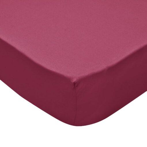 vidaXL formsyede lagener til vandsenge 2 stk. 1,8 x 2 m bomuldsjersey bordeauxfarvet