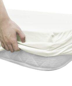 vidaXL faconsyede lagener til vandsenge 2 stk. 1,8 x 2 m bomuldsjersey offwhite