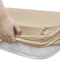 vidaXL faconsyede lagener til vandsenge 2 stk. 180 x 200 cm bomuldsjersey beige