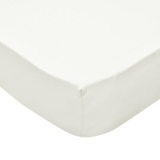 vidaXL faconsyede lagener 2 stk. 190 x 200 cm bomuldsjersey offwhite