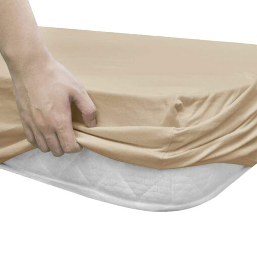 vidaXL faconsyede lagener 2 stk. 150 x 200 cm bomuldsjersey beige