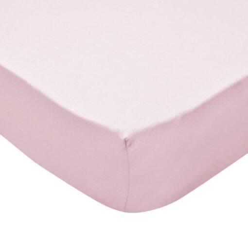 vidaXL formsyede lagener til vugger 4 stk. bomuldsjersey 60 x 120 cm lyserød