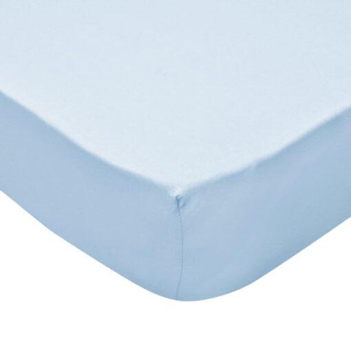 vidaXL formsyede lagener til vugger 4 stk. bomuldsjersey 60 x 120 cm lyseblå