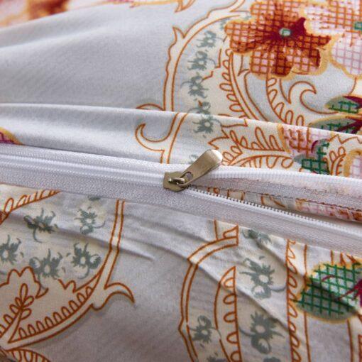 vidaXL sengesæt blomsterprint 135×200/80×80 cm flerfarvet