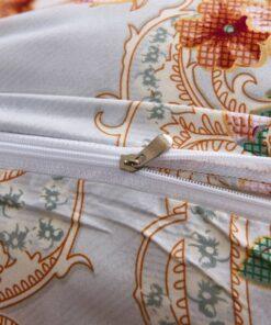 vidaXL sengesæt 155×220/80×80 cm blomsterprint flerfarvet