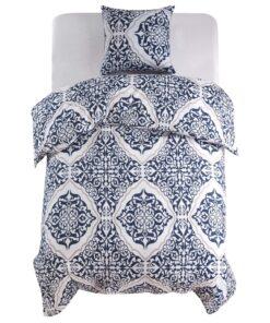 vidaXL sengesæt 140×200/60×70 cm klassisk design blå